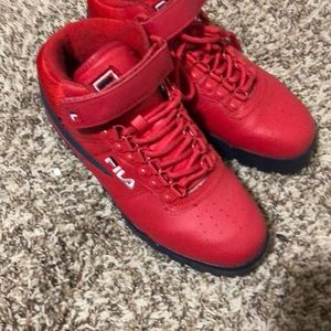Fila red shoes
